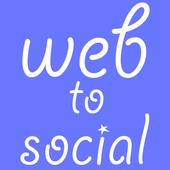 web to social icon