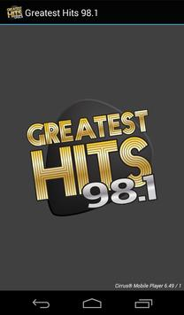 Greatest Hits 98.1 poster