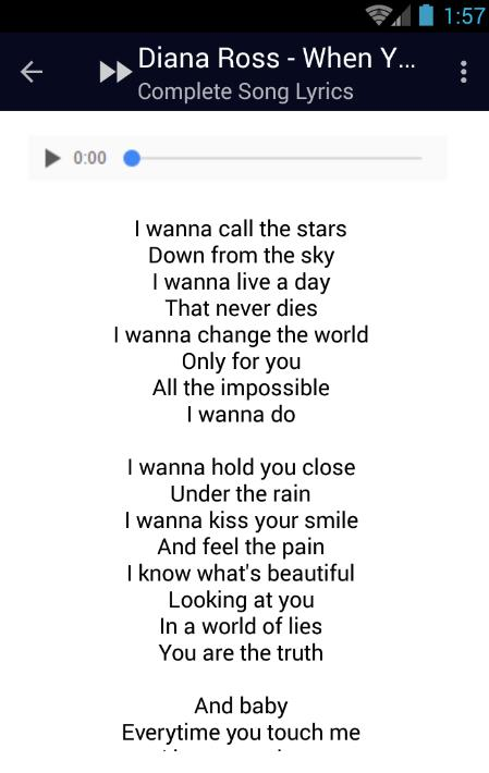 Diana Ross Endless Love Lyrics for Android - APK Download