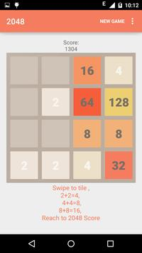 2048 Number puzzle game poster