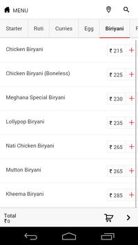 Meghana Foods apk screenshot