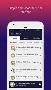 WIRED - Audio Video Radio MP3 Music Player screenshot 1