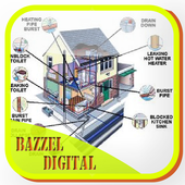 sketch wiring diagram of dwelling house icon