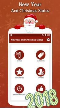 New Year and Christmas Status poster