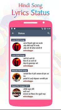 Hindi Song Lyrics Status screenshot 2