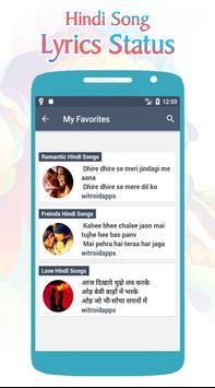 Hindi Song Lyrics Status screenshot 7