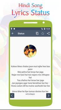 Hindi Song Lyrics Status screenshot 6