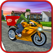 Moto Pizza Delivery Boy 3D icon