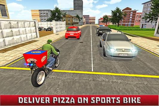 Moto Pizza Delivery Boy 3D poster