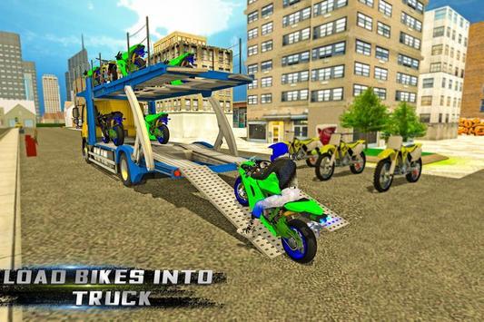 BIke Transport Cargo Truck poster