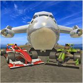 Airplane Pilot Formula Car Transporter icon