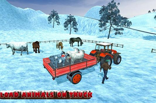 Farm Animals Tractor Transport poster