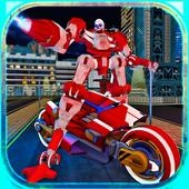 Moto Robot Transforming Hero icon