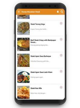 Resep Masakan Steak screenshot 1