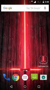 Lightsaber Live Wallpaper poster