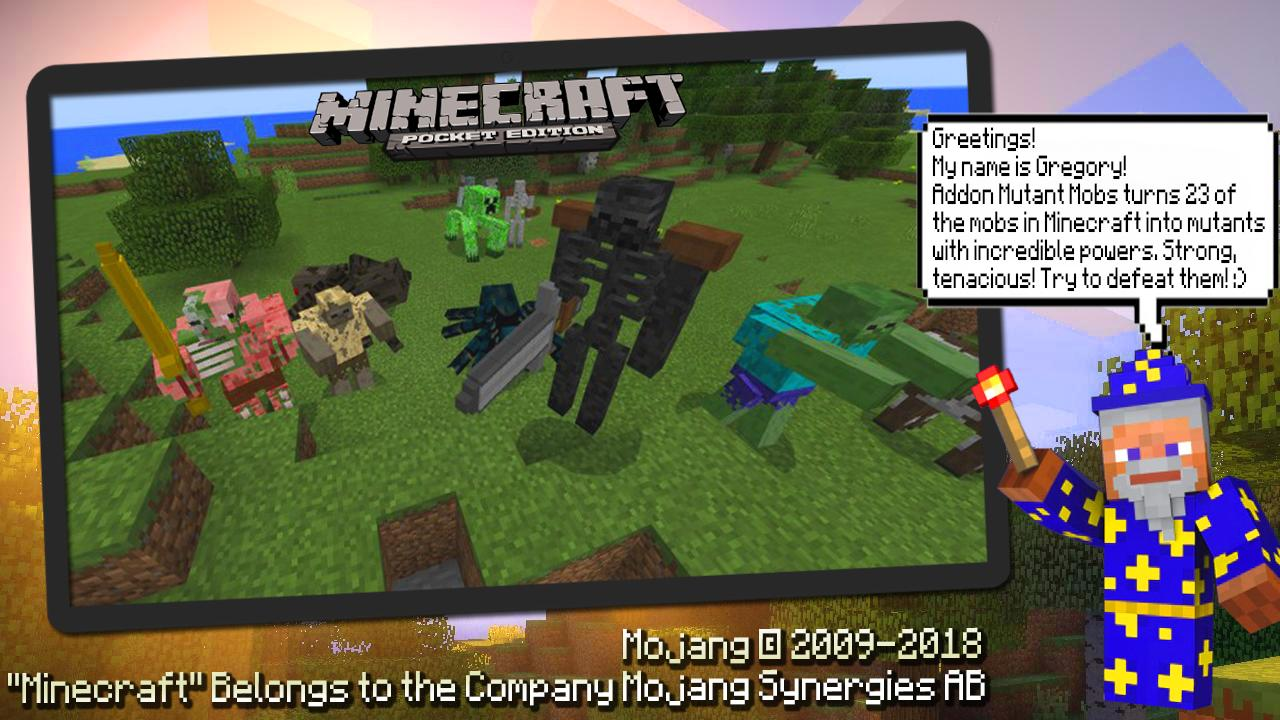 Addon Mutant Mobs for Minecraft PE para Android - APK Baixar