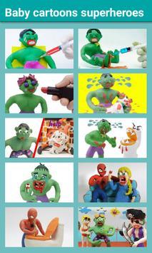 Baby Cartoons Superheroes poster