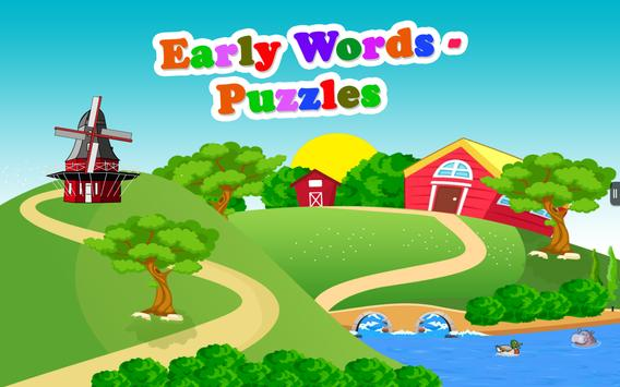 Early Words - Puzzles Free poster