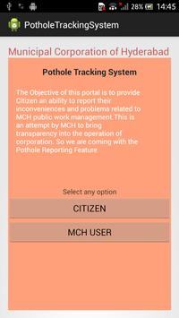GHMC Pothole Tracking System poster
