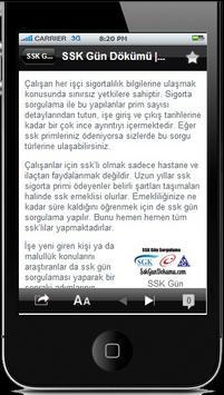 SSK Gün Dökümü apk screenshot