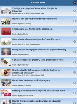 eSchool News apk screenshot