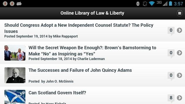 Library of Law & Liberty apk screenshot