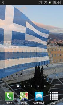 Greece Flag Live Wallpaper apk screenshot