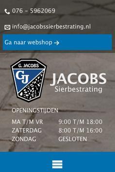Jacobs Sierbestrating poster