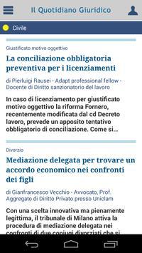 Notizie Quotidiano Giuridico screenshot 1