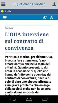 Notizie Quotidiano Giuridico screenshot 2