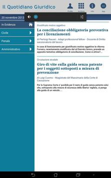 Notizie Quotidiano Giuridico screenshot 4