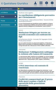Notizie Quotidiano Giuridico screenshot 7