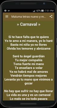 Maluma letras nuevo y musicas apk screenshot