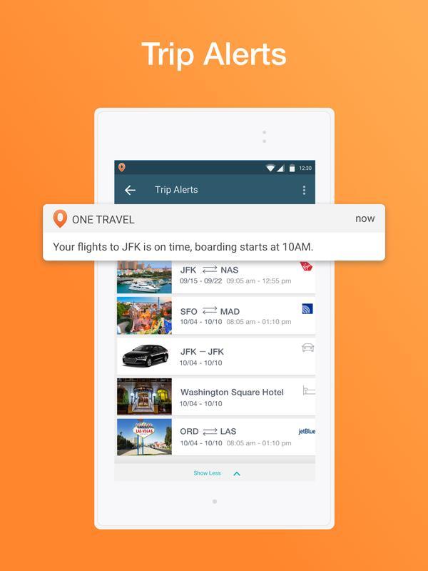 OneTravel Cheap Flights Hotels Booking App Apk Screenshot