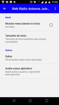 Web Rádio Antenna Joinville screenshot 6