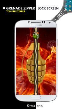 Grenade Zipper Lock Screen apk screenshot