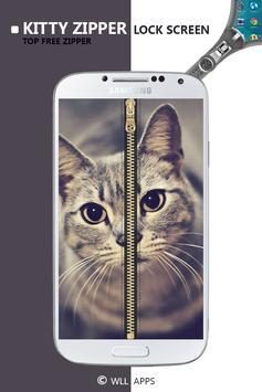 Kitty Zipper Screen Lock apk screenshot