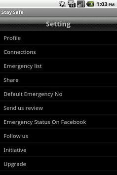 Stay Safe apk screenshot