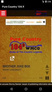 Pure Country 104.9 poster