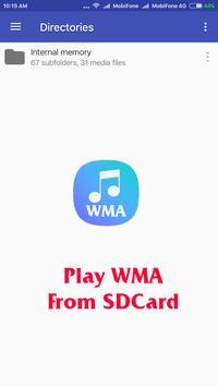WMA Music Player screenshot 1