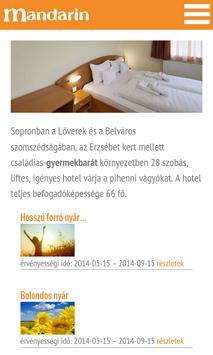 Mandarin Hotel apk screenshot