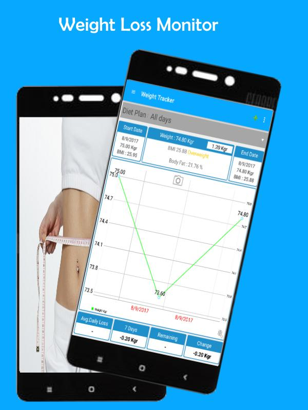 weight loss monitor weight tracker bmi diet for android apk