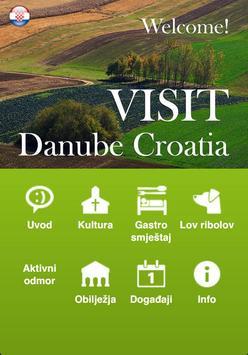 Visit Danube Croatia poster