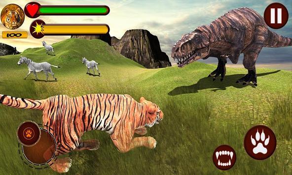 Tiger vs Dinosaur Adventure 3D poster