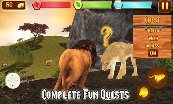 Wild Lion Adventure Simulator apk screenshot