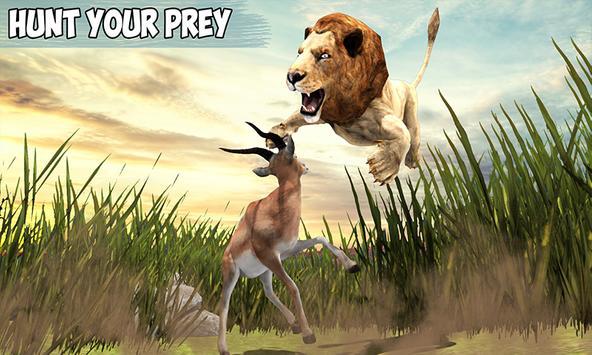 Angry Lion Jungle Survival 3D apk screenshot