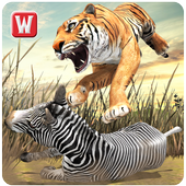 Angry Tiger Jungle Survival 3D icon