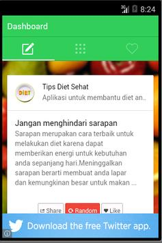 Tips Diet Bahasa Indonesia poster