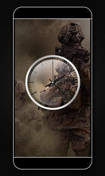 Army clock live wallpaper poster