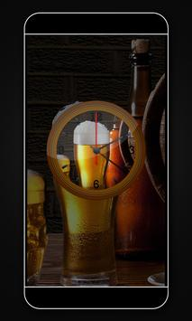 Beer clock live wallpaper poster
